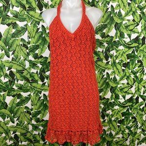 5 for $25 Moda International Orange Crochet Dress